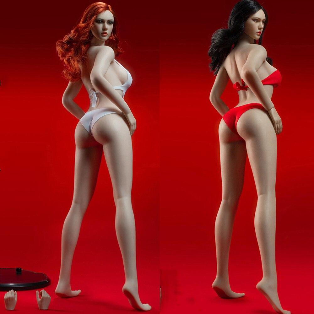 1/6 TBLeague PLLB2020-S43 Suntan skin For head carving 1/ 6 European and American Female Feet Body Big Brust Body